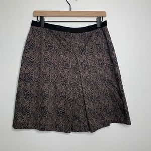 Ann Taylor Snakeskin Print Pleat Skirt Sz 8